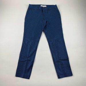 Old Navy Shiny Blue Houndstooth Pixie Pant 4